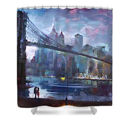 Romance By East River II Shower Curtain by Ylli Haruni