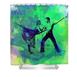 Romantic Ballet Watercolor 1 Shower Curtain by Naxart Studio