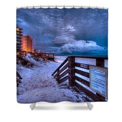 Romar Beach Clouds Shower Curtain by Michael Thomas
