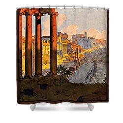 Rome Par La Voie Du Mont-cenis Shower Curtain by Georgia Fowler