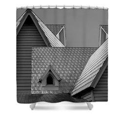 Roof Lines Shower Curtain by Debra and Dave Vanderlaan