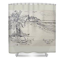 Roosevelt Blvd Beach  Key West Fla Shower Curtain by Diane Pape