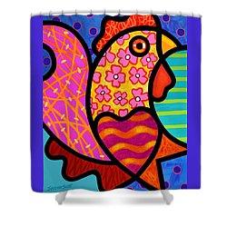 Rooster Dance Shower Curtain by Steven Scott