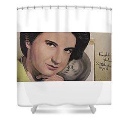 Rosalind Elsie Franklin Shower Curtain by Simon Kregar