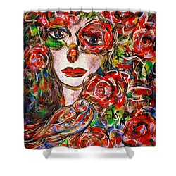 Rose Shower Curtain by Natalie Holland