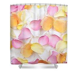 Rose Petals Background Shower Curtain by Elena Elisseeva