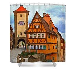 Rothenburg Shower Curtain by Michael Pickett