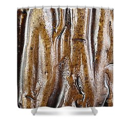 Rough Abstract Ceramic Surface Shower Curtain by Kerstin Ivarsson