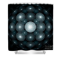 Round And Round Shower Curtain by Klara Acel