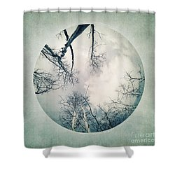 round treetops I Shower Curtain by Priska Wettstein