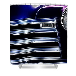 Route 66 Well Grilled Shower Curtain by Bob Christopher