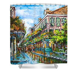 Royal At Pere Antoine Alley Shower Curtain by Dianne Parks
