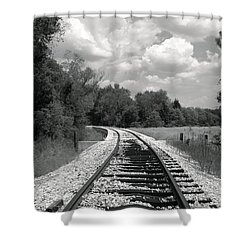 Rr X-ing Shower Curtain by Robert Frederick