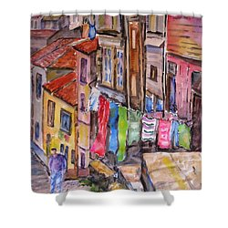 Rua Conticeira Brazil  Shower Curtain by Mohamed Hirji