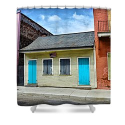 Rue Burgundy Shower Curtain by Bill Cannon
