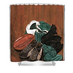 Rugby Shower Curtain by Sam Mart