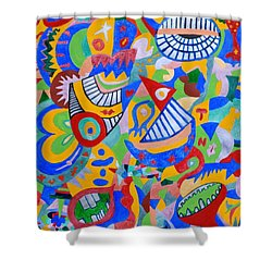 Rumor By Taikan Shower Curtain by Taikan Nishimoto