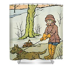 Run Dandy Run Shower Curtain by Anonymous