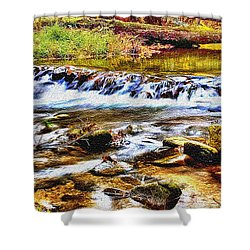 Running Stream In Yosemite National Park Shower Curtain by Bob and Nadine Johnston