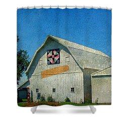 Rural Iowa Barn Shower Curtain by Cassie Peters