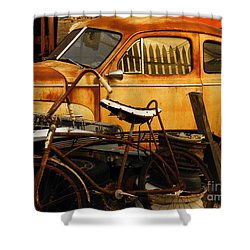 Rust Race Shower Curtain by Joe Jake Pratt