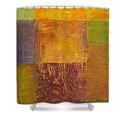 Rustic Layers 2.0 Shower Curtain by Michelle Calkins