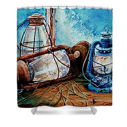 Rustic Relics Shower Curtain by Hanne Lore Koehler