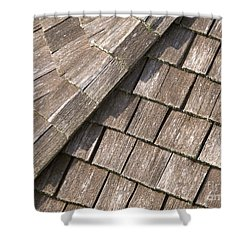 Rustic Rooftop Shower Curtain by Ann Horn