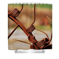 Rusty Tines Shower Curtain by Mary Carol Story