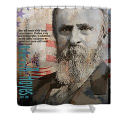 Rutherford B. Hayes Shower Curtain by Corporate Art Task Force