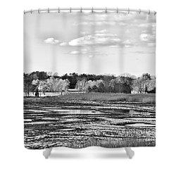 Rye Countryside Shower Curtain by Marcia Lee Jones