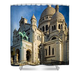 Sacre Coeur At Dawn Shower Curtain by Inge Johnsson