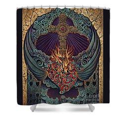 Sacred Heart Shower Curtain by Ricardo Chavez-Mendez