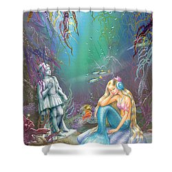 Sad Little Mermaid Shower Curtain by Zorina Baldescu