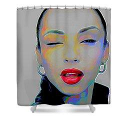 Sade 3 Shower Curtain by Fli Art