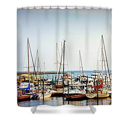 Safe Harbor Shower Curtain by Reid Callaway