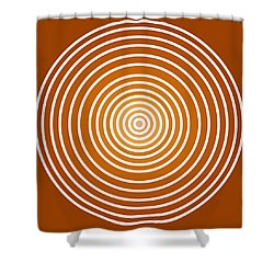 Saffron Colored Abstract Circles Shower Curtain by Frank Tschakert
