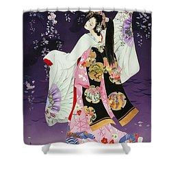 Sagi No Mai Shower Curtain by Haruyo Morita