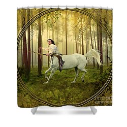 Sagittarius Shower Curtain by Linda Lees