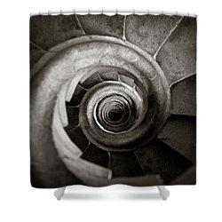 Sagrada Familia Steps Shower Curtain by Dave Bowman