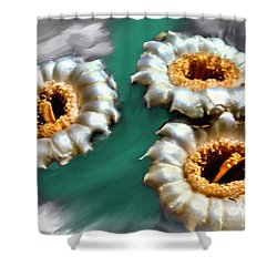 Saguaro Cactus Blossoms Shower Curtain by Bob and Nadine Johnston
