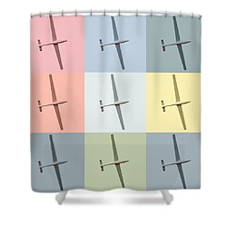 Sail Plane  Shower Curtain by Toppart Sweden
