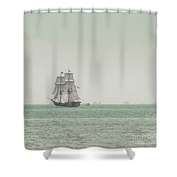 Sail Ship 1 Shower Curtain by Lucid Mood