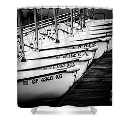 Sailboats In Newport Beach California Picture Shower Curtain by Paul Velgos
