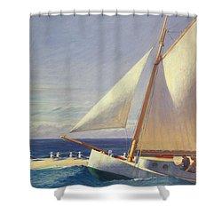 Sailing Boat Shower Curtain by Edward Hopper