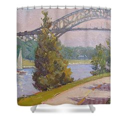Sailing Cape Cod Canal Shower Curtain by Dianne Panarelli Miller