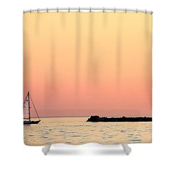 Sailing In Color Shower Curtain by Gary Heller