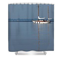 Sailing Reflections Shower Curtain by Karol Livote