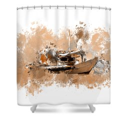 Sailing Time Shower Curtain by Lourry Legarde