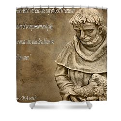 Saint Francis Of Assisi Shower Curtain by Dan Sproul